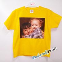 печать на детской футболке фото