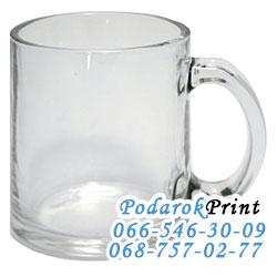 Кружка стекланная прозрачная для сублимационной печати;