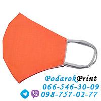 заказать защитную маску с логотипом персиковая